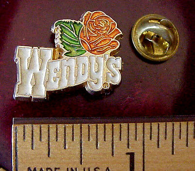 VINTAGE WENDY'S FAST FOOD RESTAURANT LAPEL PIN