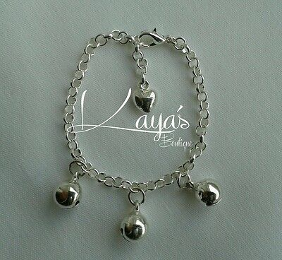 *Baby Girls Jingly Bell Charm Anklet Ankle Bracelet, Footfinder Rattle *Any Size