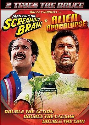 Man With A Screaming Brain/Alien Apocalypse (DVD)Bruce Campbell / Cult / Sexy