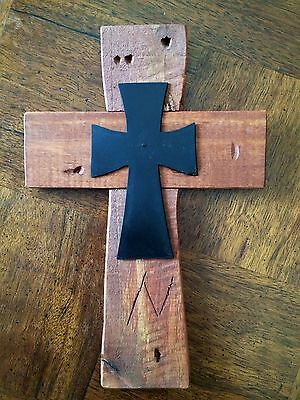 WaLL CRoSS WooDeN ReCLaiMeD WooD WeST RuSTiC GoTHiC BLacK IRoN BiKeR OLd WoRLd