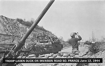 Ww2 6/12/44 Troop Laden Duck Invasion Rd. South France P/C