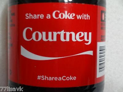 Share a COKE with COURTNEY Collectible 20 OZ Bottle RARE Coca-Cola HTF Name NEW