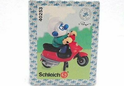 Schleich 40253-China-Puffo In Scooter-Box C/logo Puffi-Schlumpfe-Smurfs-Nuovo