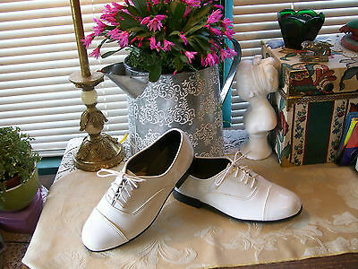 "Perry Ellis ""Formal Wear"" White Patent Tux/Formal Oxfords SZ 7.5W....New"