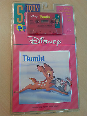 Vintage 1977 Disney's Story Of Bambi Read Along Book And Cassette Tape NEW MINT