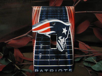 New England Patriots Light Switch Wall Plate Cover #2 - Variations Available