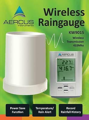 Rain Gauge Wireless With In / Out Temp - FREE 30 Page Beginner's Guide