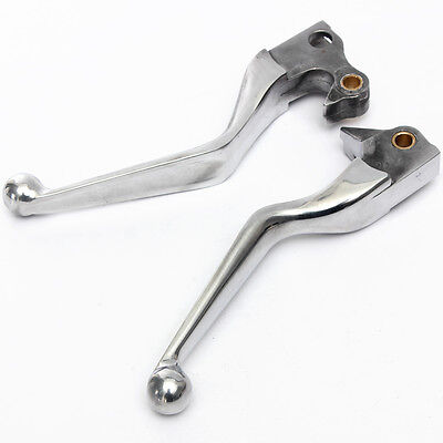 Pair Wide Blade Chrome Brake Clutch Lever For Harley XL 883L Superlow Sportster