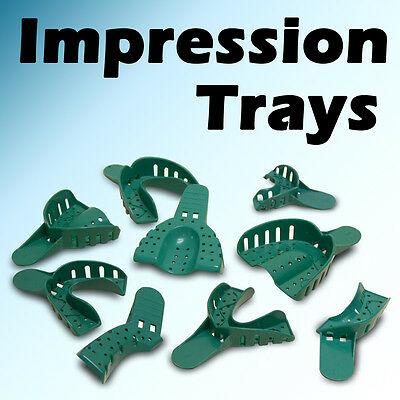 StarryShine 12 PC #4 Medium Lower Dental Disposable Impression Tray Trays