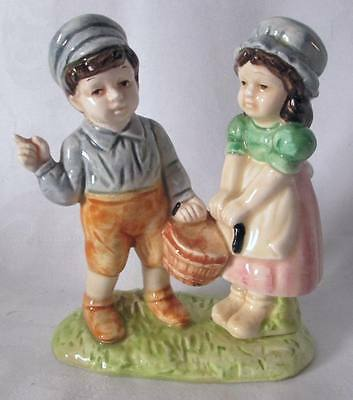"Quon Quon Japan~ONCE UPON A TIME ""JACK & JILL"" CHINA FIGURINE 1983~euc"