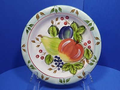"Heritage Mint Dinner Display Plate Black Forest Fruits 10.5"" Diameter Decorative"