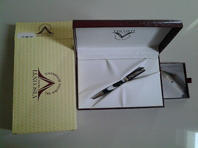 VISCONTI OPERA ELEMENTS GREY EARTH BALLPOINT PEN - NEW WITH PAPER AND BOX