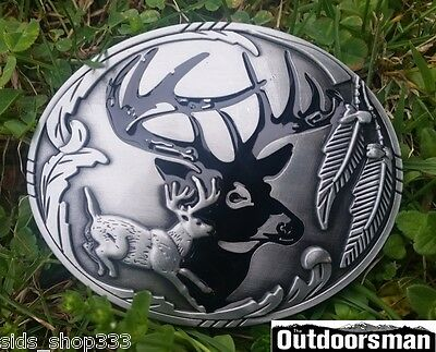 ✖  Buck running ✖Beautiful Belt Buckle Buck ✖ Deer silver color nice gift USA
