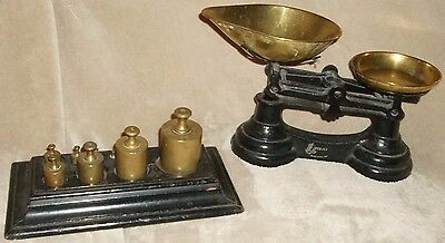 1800's?OLD/ANTIQUE Estate Librasco Scales MADE IN ENGLAND w/ weights primitive &