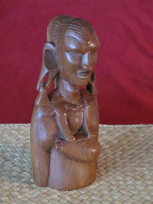 Vintage African Carved Bust… with wonderful Grain...