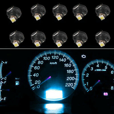 10 x Ice Blue T4 T4.2 Neo Wedge 1-SMD LED Cluster Instrument Dash Climate Bulbs