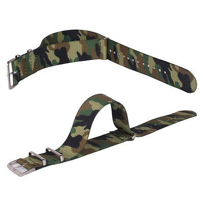 Army 18mm 20mm 22mm Nylon Nato Camouflage Printed Watch Strap Wristwatch Band