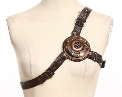 Steampunk industrial revolution LED resource core accouterment 2-way belt SP074