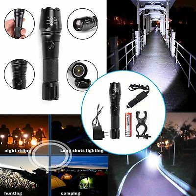 2500LM UltraFire T6 XM-L CREE LED Flashlight Torch+2 Chargers+Clip+18650 Battery