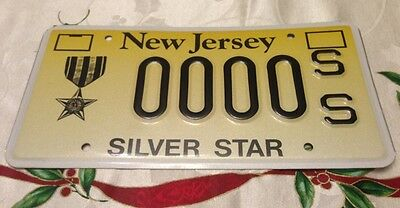 New Jersey SILVER STAR medal license plate War Combat Valor Military Decoration