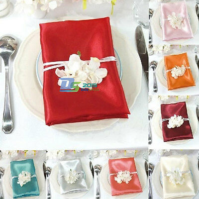 """Satin Wedding Catering Dinner Party Luncheon Cloth Napkins Table Decor 20""""x 20"""""""
