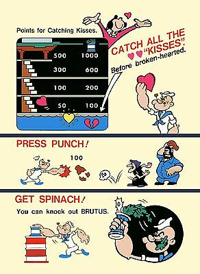 2 5//8 x 10.5. Buy any 3 stickers, GET ONE FREE! Popeye arcade marquee sticker