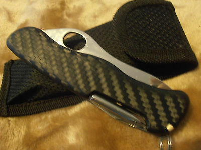 Victorinox Swiss army knife 111mm Trekker with Carbon Fiber scales Rare Custom