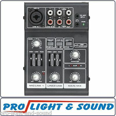 Mini 3 Channel Mixer with USB Interface ( Karaoke DJ Band )