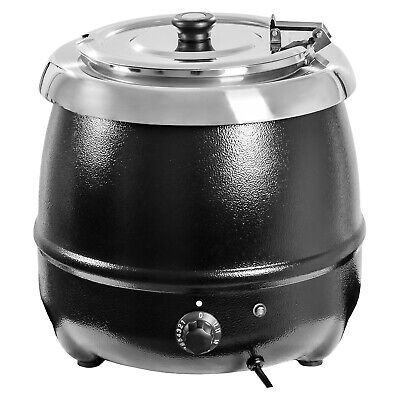 Electric Soup Kettle Cooker Warmer 10L Commercial Cooking 400 W 30 - 85 °C New