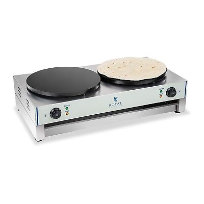 Double Crepe Maker Pancake Machine Commercial 6000 W 40 Cm Diameter Crepes New