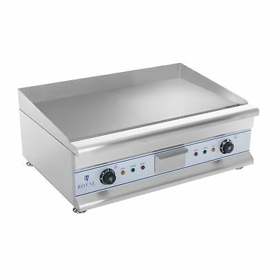 DOUBLE ELECTRIC GRILL GRIDDLE HOTPLATE STAINLESS STEEL 2x3200 WATT PROFESSIONAL