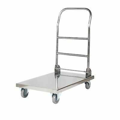 Stainless Steel Folding Platform Trolley Hand Truck Cart 330 Kg Load Commercial