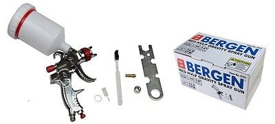 HVLP Gravity Feed Paint Spray Gun 1.7mm Nozzle 600ml Cup by BERGEN TOOLS