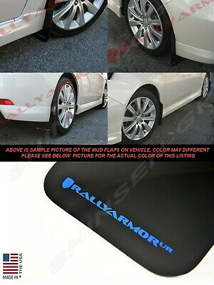 RALLY ARMOR UR MUD FLAPS FOR 2008-2011 IMPREZA 2.5i / 08-10 WRX BLACK / BLUE