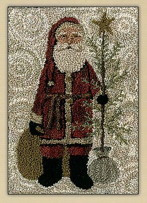 Country Santa Punch Needle Pattern w/ Stamped Weaver's Cloth