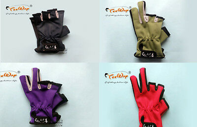Non Slip Fingerless Rubber Grip Fishing Gloves Hunting Riding Breathable Medium