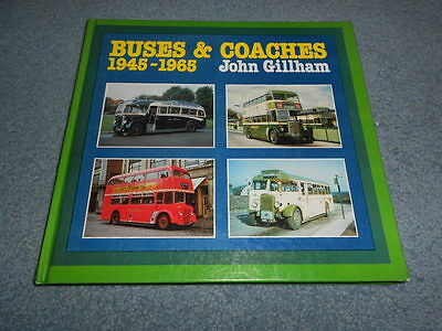 1976 BUSES & COACHES 1945-1965 HISTORY BOOK with PHOTOS by GILLHAM ENGLAND
