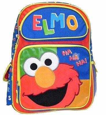 "New Style Sesame Street Elmo Boys 16"" Kids Backpack and Large School Bag"