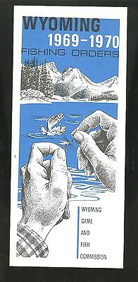 1969-70 Fishing Info & Map WYOMING