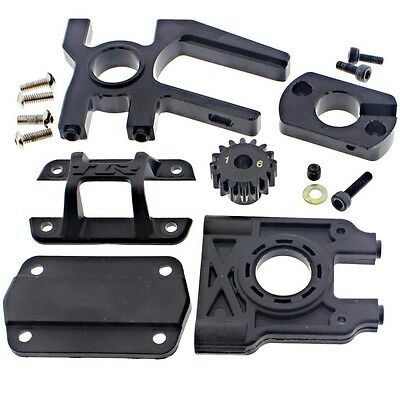 MOTOR MOUNT, ADAPTER 16T PINION GEAR TOP BRACE DIFF - Losi 1/8 8ight-E Buggy RTR