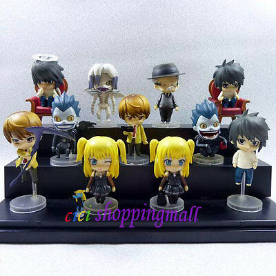 11 pcs Set  Death Note PVC Figures toy Ryuk Rem Misa L LOOSE