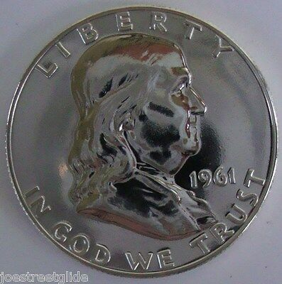 "1961 PROOF FRANKLIN HALF DOLLAR COIN 90% SILVER IN ""GEM MINT"" CONDITION"