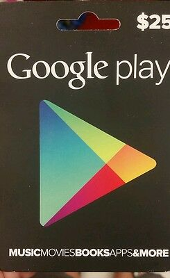 Google Play Giftcard $25 Free Shipping