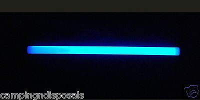 4X Glow Sticks BLUE 12 inches Light For Fishing / Camping / Party/ Adventure