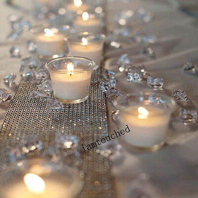 Clear Acrylic Diamond Confetti 4.5 6.5 8 mm Table Scatters Wedding Decorations