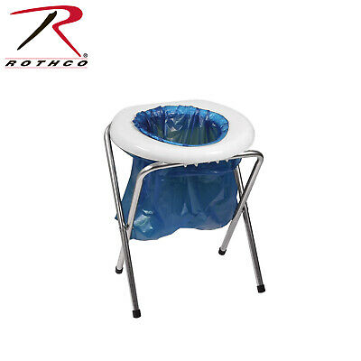 Portable Camp Toilet COMMODE - Plastic seat -  Includes 6 bags 560 Rothco