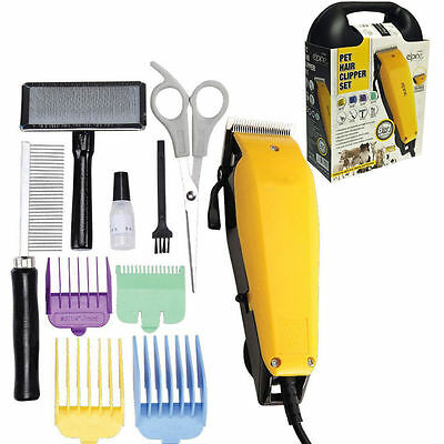 Professional Pet Clipper Grooming Kit Trimmer Dog/cat Yellow Animal Hair New