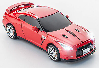 Click Car Mouse Nissan GT-R Wireless Optical Mouse (Gold Flake Red)