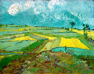 Vincent van Gogh Wheat Field canvas print giclee 8X12 reproduction art poster