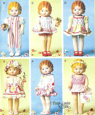 PATTERN for Doll Clothes Accessories McCalls 6573 dress romper fit DK Pansy 18in